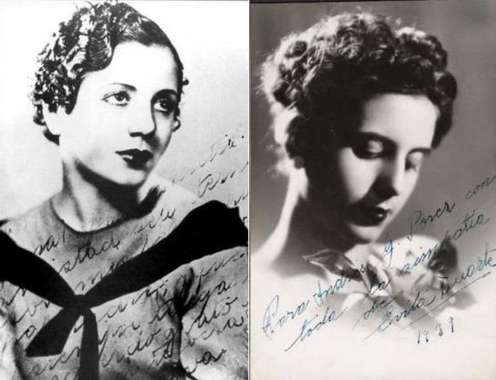 Эва в 1934 и в 1939 гг.   Фото: liveinternet.ru