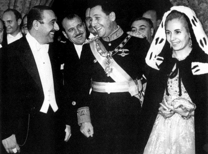 Президент Аргентины Хуан Перон и Эвита Дуарте   Фото: ru.fanpop.com