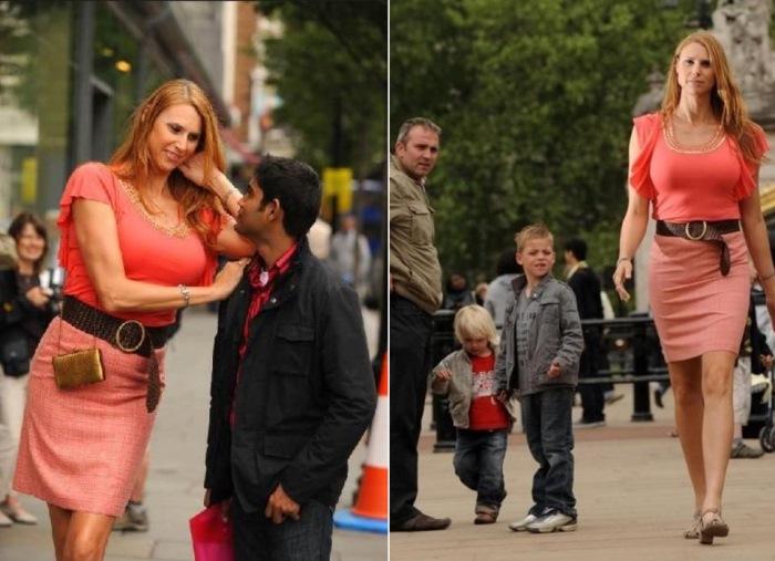 Ева Бэйбзилла на улицах города