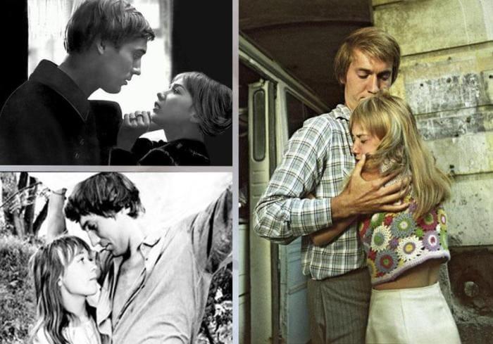 Кадры из фильма *Романс о влюбленных*, 1974 | Фото: vkuspo.info