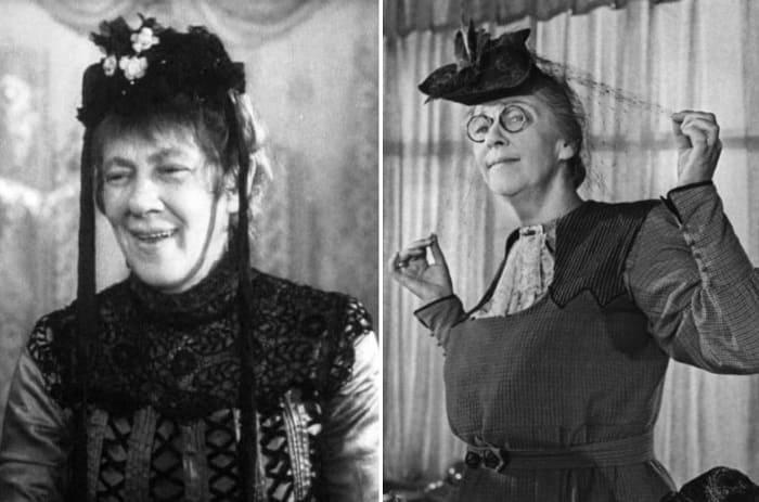 Фаина Раневская в фильмах *Свадьба*, 1944, и *Весна*, 1947 | Фото: kino-teatr.ru
