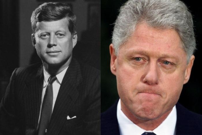 Американские президенты-сексоголики Джон Кеннеди и Билл Клинтон