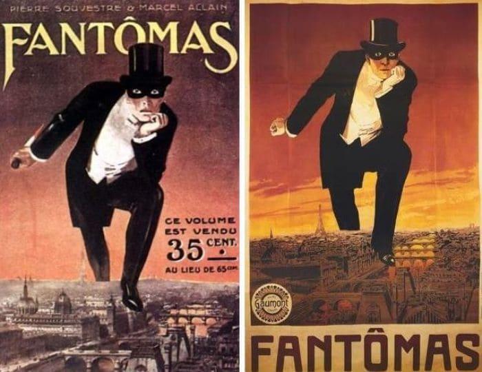 Афиши первого фильма трилогии о Фантомасе | Фото: ygashae-zvezdu.livejournal.com