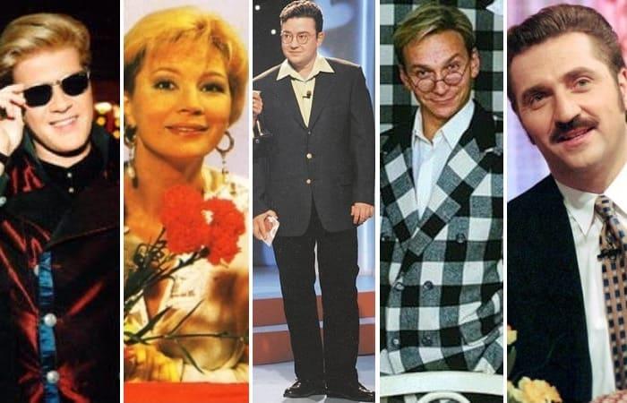 Ведущие самых популярных программ 1990-х гг. | Фото: cosmo.ru и 24smi.org