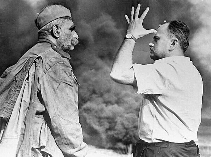 Серго Закариадзе и Резо Чхеидзе на съемках фильма | Фото: parashutov.livejournal.com