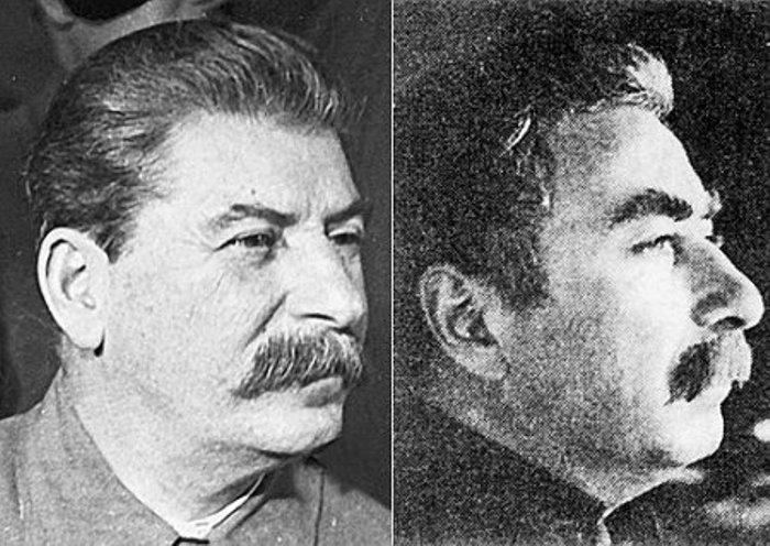 Сталин (слева) и его двойник Феликс Дадаев | Фото: liveinternet.ru