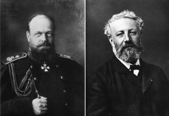 Феликс Надар. Фотопортреты императора Александра III и писателя Жюля Верна