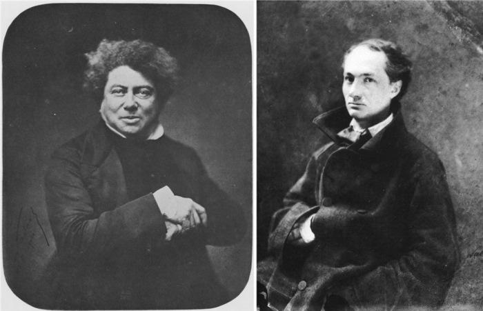 Писатель Александр Дюма (старший) и поэт Шарль Бодлер