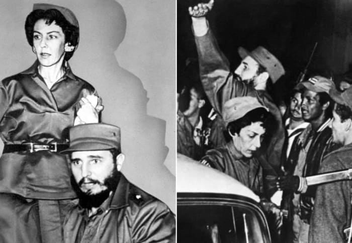Селия Санчес и Фидель Кастро   Фото: kommersant.ru и liberation.fr