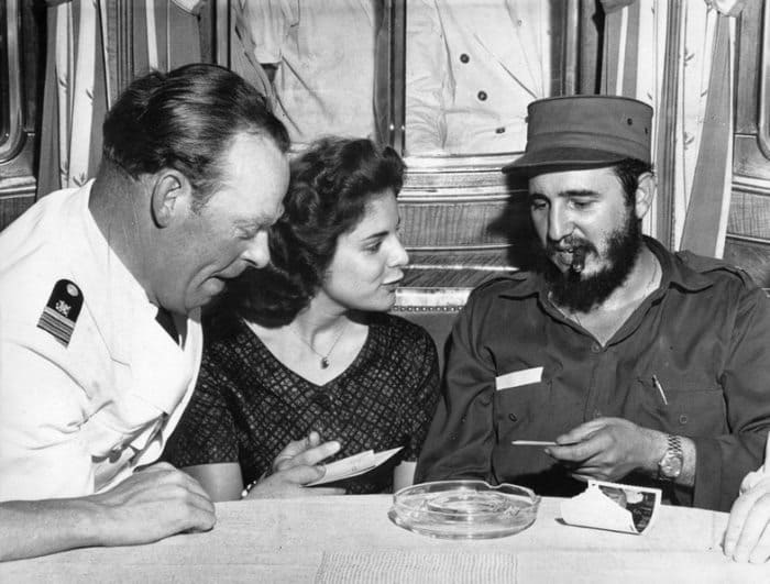 Марита Лоренц и Фидель Кастро, 1959   Фото: was.media