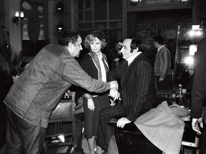 На съемках фильма *Гараж*, 1979 | Фото: bigpicture.ru
