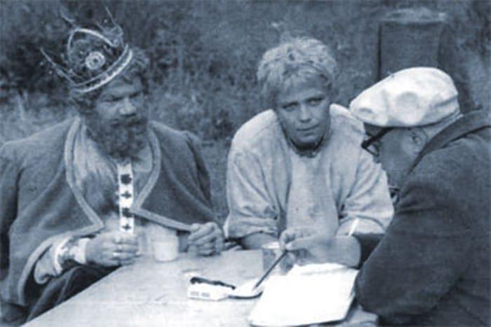 На съемках фильма *Огонь, вода и медные трубы*, 1967 | Фото: russkoekino.ru
