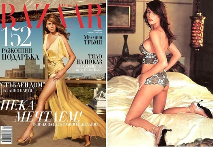 Мелания Трамп на страницах модных журналов | Фото: glavcom.ua и marieclaire.ru