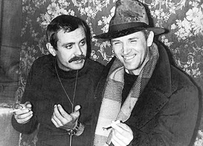 Никита Михалков и Станислав Любшин на съемках фильма *Пять вечеров*, 1978 | Фото: mgorskikh.com