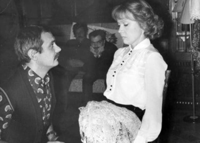 Людмила Гурченко и Никита Михалков на съемках фильма *Пять вечеров*, 1978 | Фото: mgorskikh.com