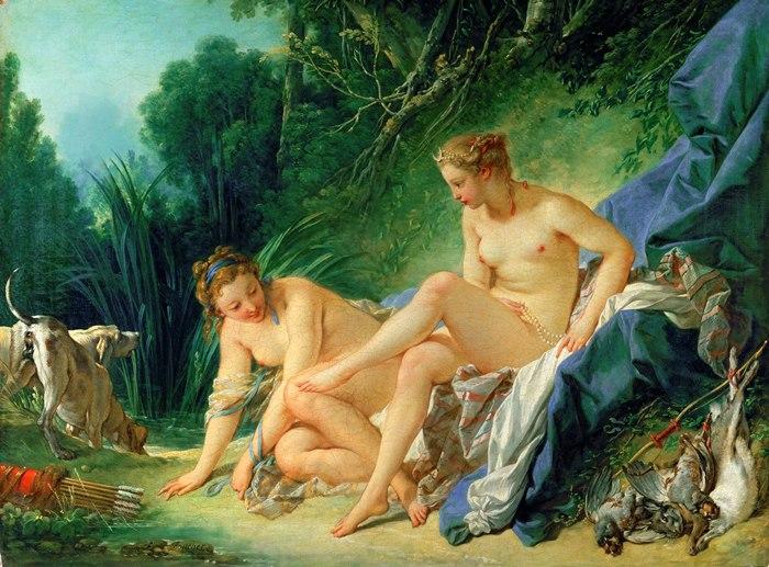 Франсуа Буше. Купание Дианы, 1742