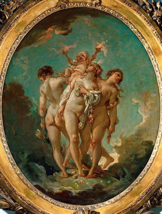 Франсуа Буше. Три грации, 1765