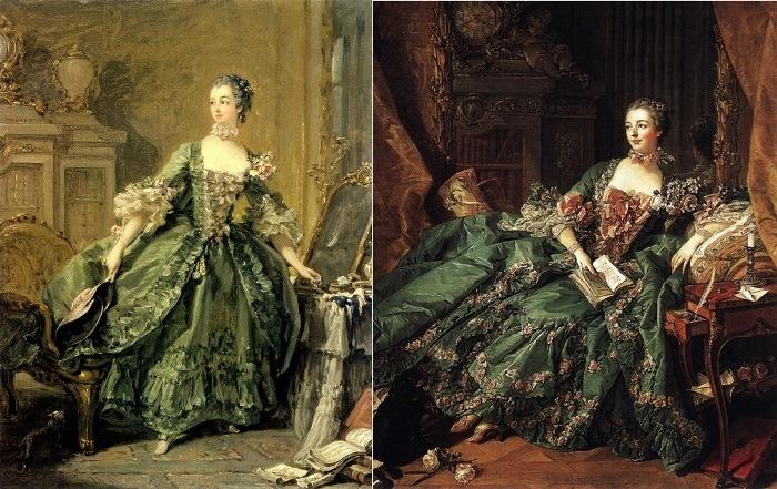 Франсуа Буше. Маркиза де Помпадур, 1750 и 1756