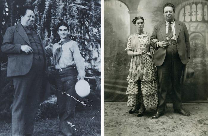 Фрида Кало и ее муж, Диего Ривера
