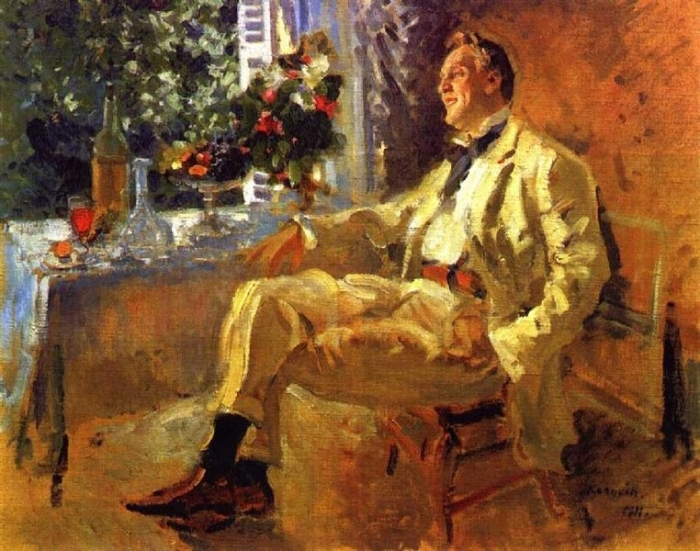 К. Коровин. Портрет Ф. И. Шаляпина, 1911