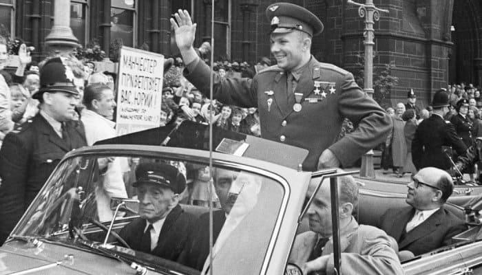 Юрий Гагарин в Великобритании, 11 июля 1961 г. | Фото: polzam.ru