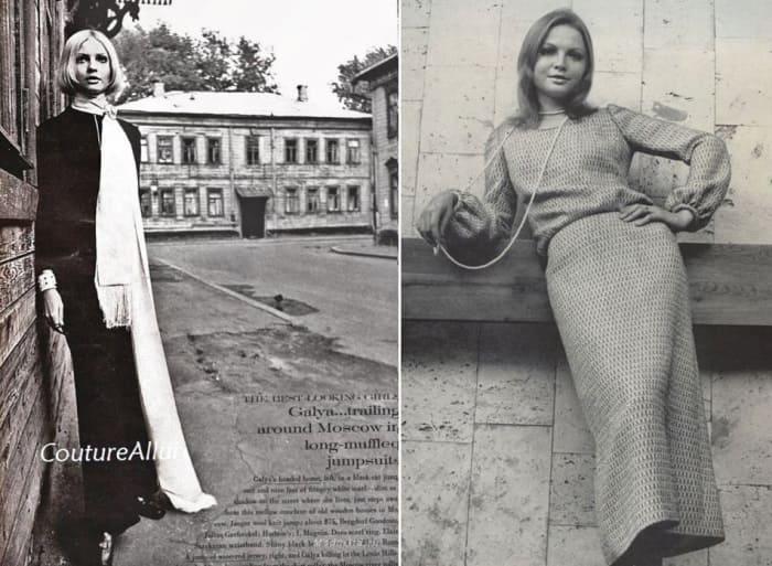 Одна з самых успешных и скандальных моделей конца 1960-х гг. | Фото: modagid.ru и gubdaily.ru