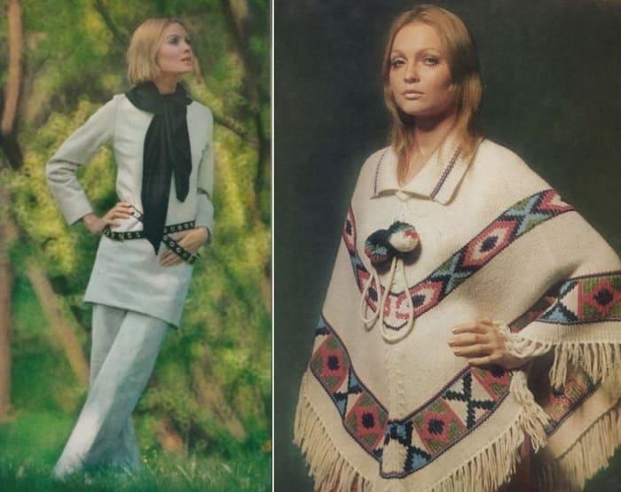 Одна з самых успешных и скандальных моделей конца 1960-х гг.   Фото: kino-teatr.ru и modagid.ru