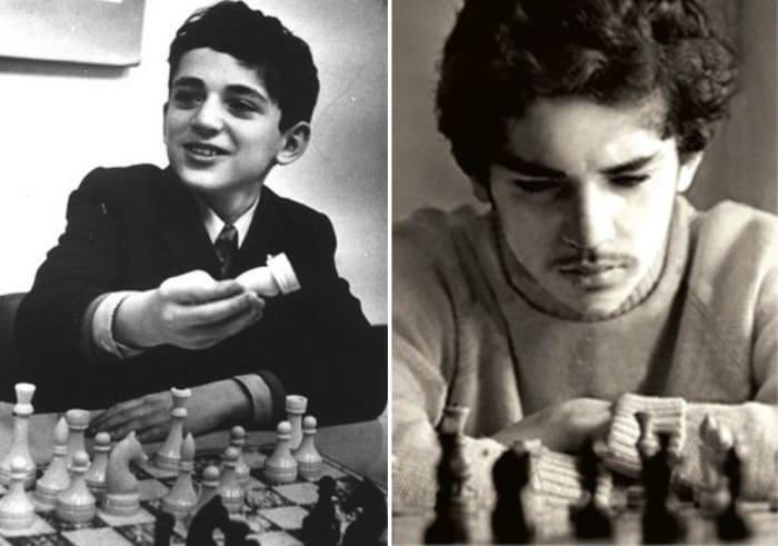 Гарик Вайнштейн в 1974 и в 1976 гг. | Фото: chesswood.ru, sultanov.azeriland.com