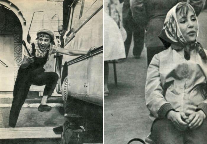 Надежда Румянцева на съемках фильма *Королева бензоколонки* | Фото: dubikvit.livejournal.com
