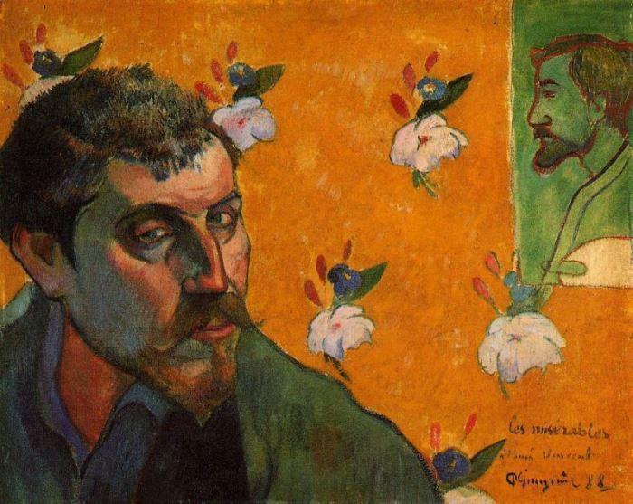 Поль Гоген. Автопортрет «Отверженные», 1888 г.
