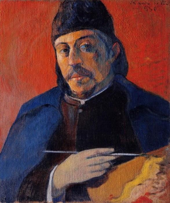 Поль Гоген. Автопортрет с палитрой, 1894 г.