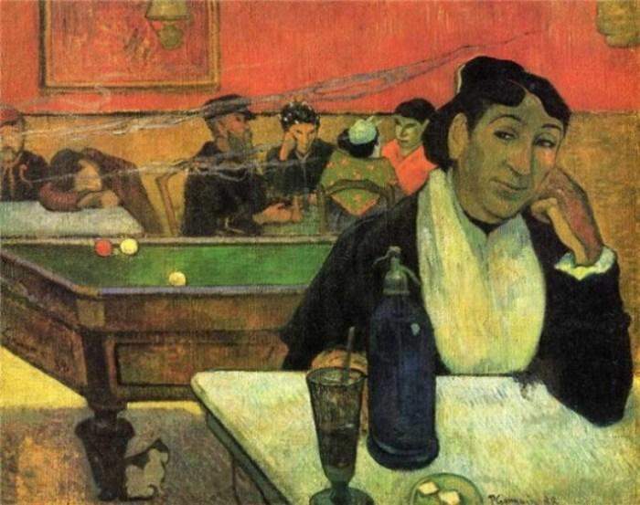 Поль Гоген. Мадам Жину в кафе, 1888 г.