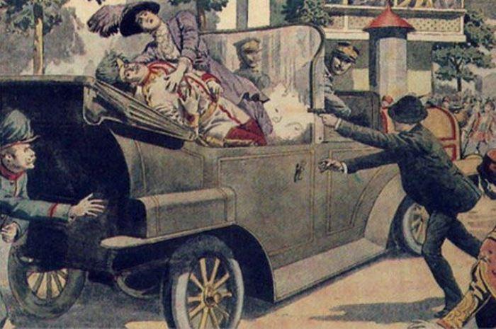 Гаврило Принцип стреляет в эрцгерцога | Фото: rubsev.ru
