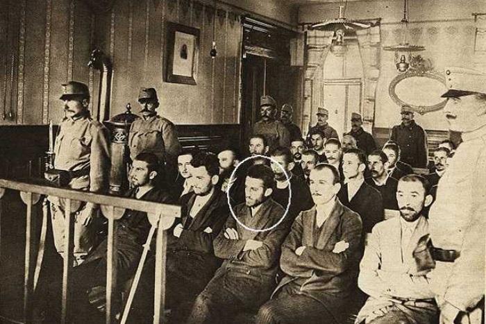 Гаврило Принцип и другие участники покушения на эрцгерцога Фердинанда в зале суда | Фото: funlib.ru