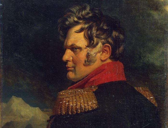 Дж. Доу. Портрет А. П. Ермолова, ок. 1825. Фрагмент | Фото: gallerix.ru