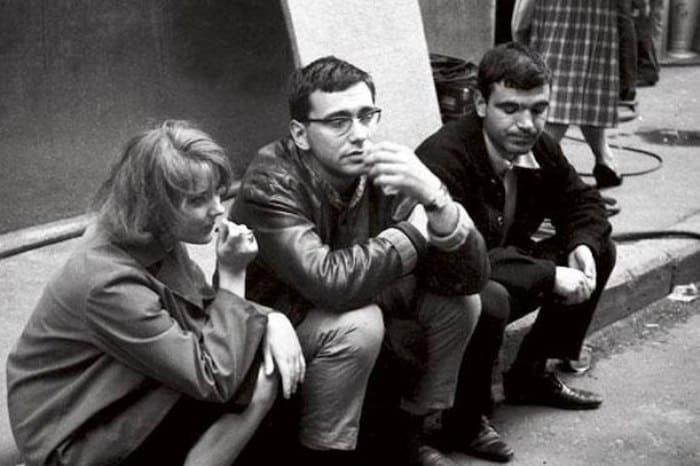 Марианна Вертинская, Андрон Кончаловский и Геннадий Шпаликов | Фото: colta.ru
