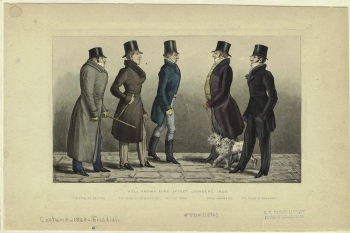 Прогулка по Бонд-стрит, 1820 г. | Фото: liveinternet.ru