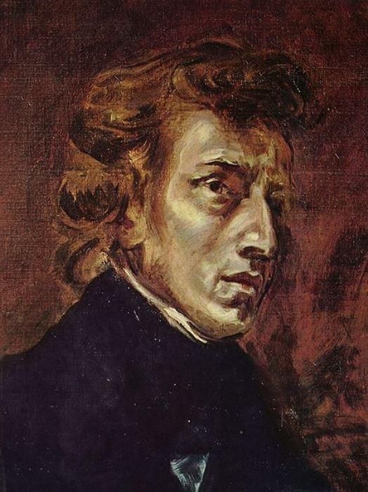 Эжен Делакруа. Фредерик Шопен. 1838 г., Лувр, Париж