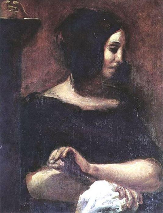 Эжен Делакруа. Жорж Санд. 1838 г., Государственный художественный музей, Копенгаген