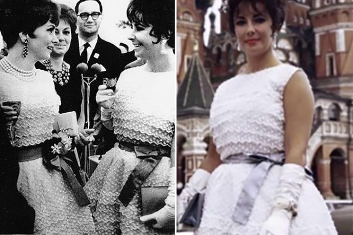Джина Лоллобриджида и Элизабет Тейлор в одинаковых платьях на кинофестивале в Москве | Фото: 24smi.org