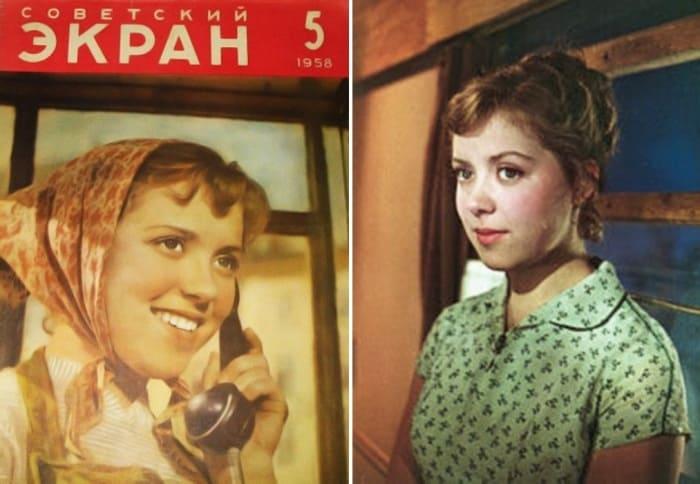 Светлана Карпинская в фильме и на обложке журнала *Советский экран* | Фото: kino-teatr.ru