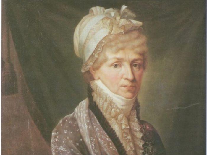 Б. Митуар. Портрет Натальи Петровны Голицыной, 1810-е. Фрагмент