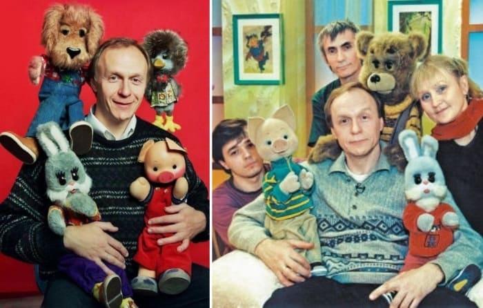 Ведущий программы Юрий Григорьев с актерами | Фото: dubikvit.livejournal.com, sobesednik.ru