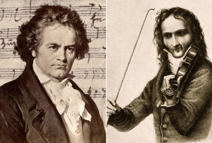 Людвиг ван Бетховен и Никколо Паганини