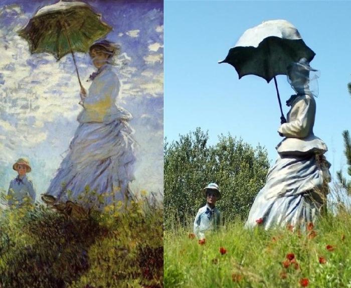 Клод Моне. Женщина с зонтиком