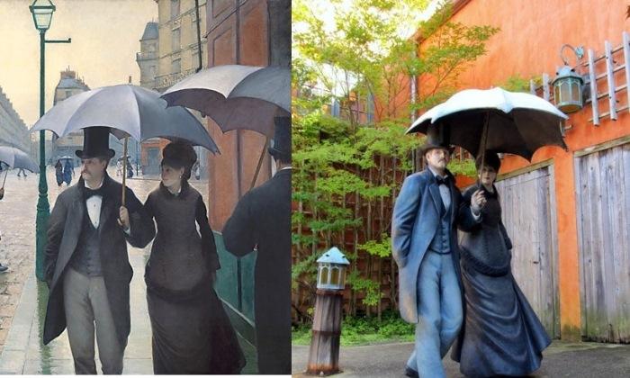 Гюстав Кайботт. Парижская улица в дождливую погоду