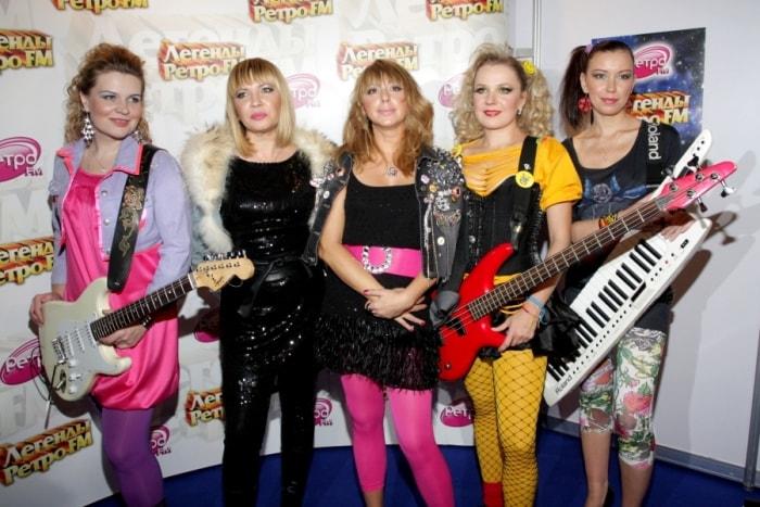 Алена Апина и группа *Комбинация*, 2009 | Фото: muzuz.ru