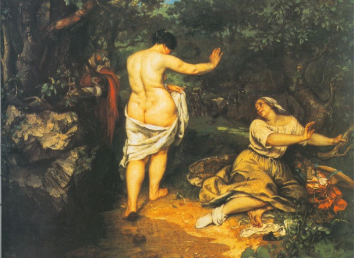 Гюстав Курбе. Купальщицы, 1853. Фрагмент | Фото: allpainters.ru