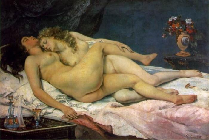 Гюстав Курбе. Спящие, 1866 | Фото: allpainters.ru