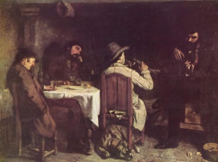 Гюстав Курбе. После обеда в Орнане, 1849 | Фото: allpainters.ru